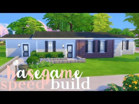 Sims 4 Speed Build NO CC BASEGAME Ranch House