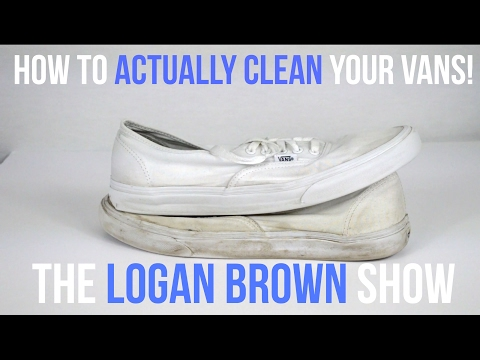 HOW TO ACTUALLY CLEAN YOUR WHITE VANS!!!
