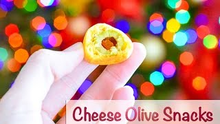 How To Roll Cheese Olive Snacks