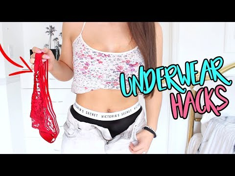 UNDERWEAR HACKS Every Girl Needs To Know | NO MORE PANTY LINES !
