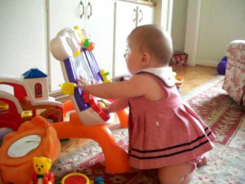 7 Month Old Baby Girl Pulls Up To Stand Youtube