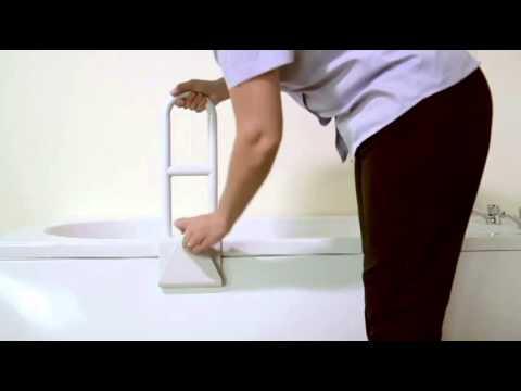 Maniglione di sostegno per la vasca da bagno youtube - Supporto per vasca da bagno ...