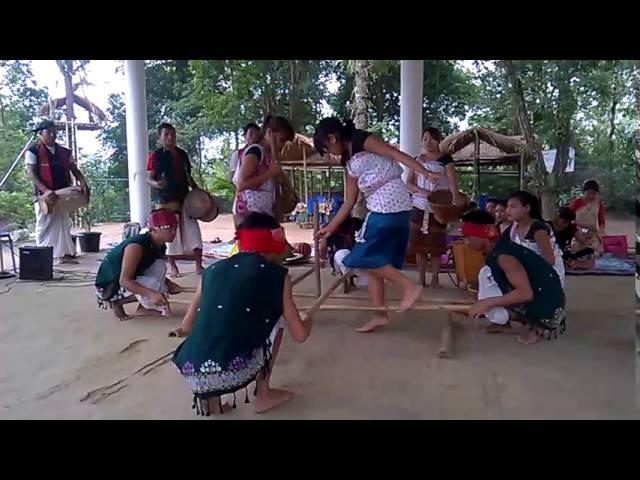 Bamboo dance of Assam _ Kaziranga National Orchid Park