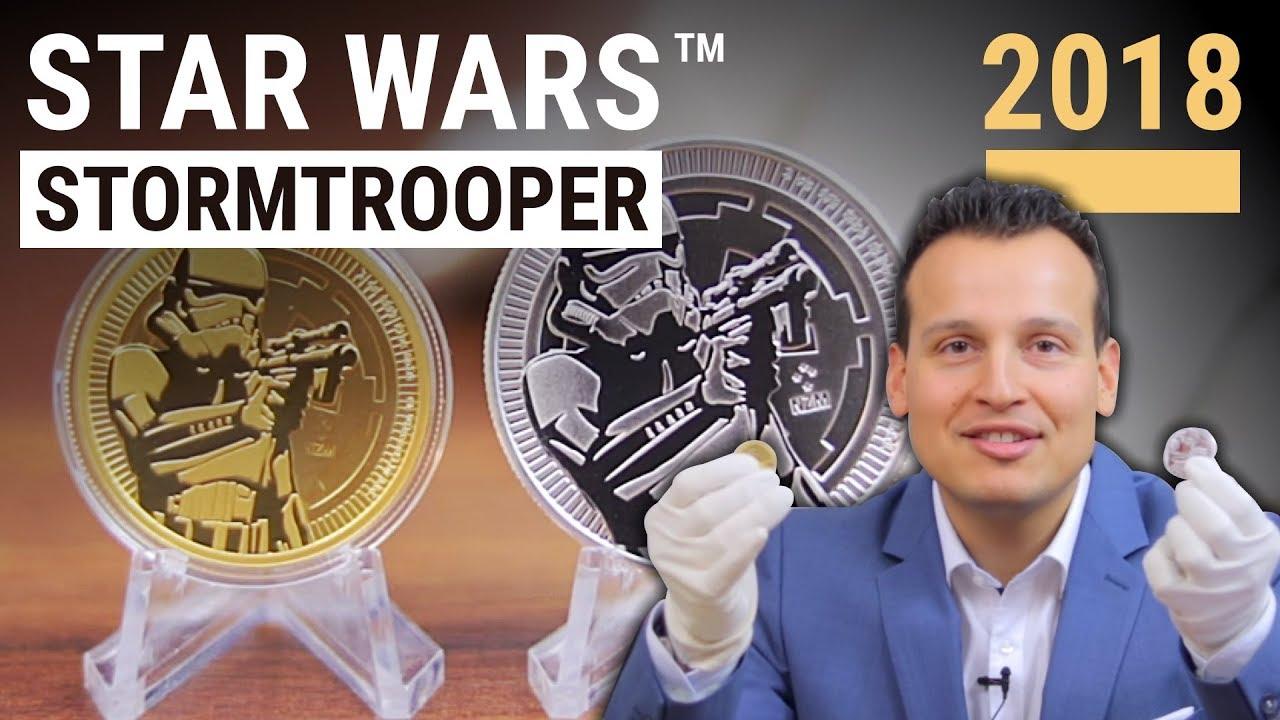 Star Wars Stormtrooper 2018 Münzen In Gold Und Silber Youtube