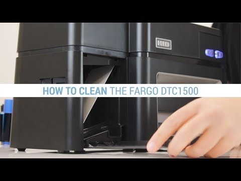 How to Clean the Fargo DTC1500 ID Card Printer
