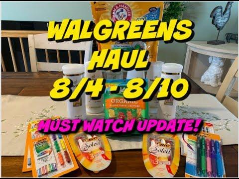 WALGREENS HAUL 8/4 - 8/10   WATCH THOSE DEALS   Savvy Coupon Shopper