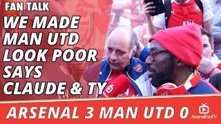 We Made Man Utd Look Poor says Claude & TY | Arsenal 3 Man Utd 0