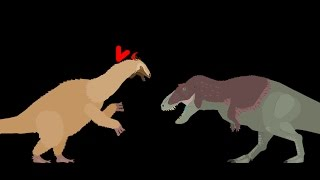 MBA: tyrannosaurus rex vs therizinosaurus  ( reuploaded )