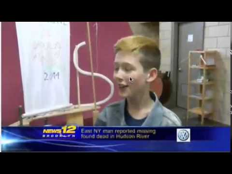 Brooklyn Waldorf School Science Fair 2014 on News 12: Caleb and Tesia