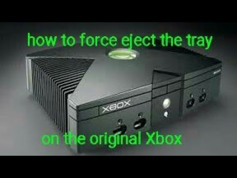 how to force eject the disk tray for og xbox youtube rh youtube com original xbox 360 manual eject Xbox One Eject Button