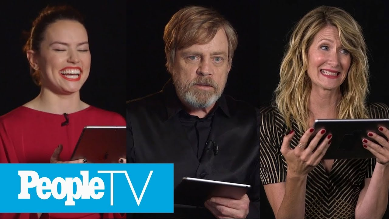 Kids Interview The Star Wars The Last Jedi Cast With Daisy Ridley Mark Hamill More Peopletv