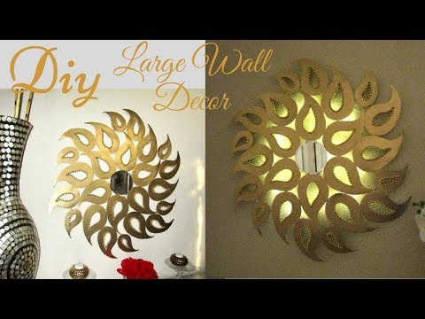 Diy Large Wall Decor with Lighting using Cardboard!