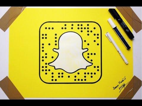 How To Draw Snapchat Logo - Fan Art Drawing