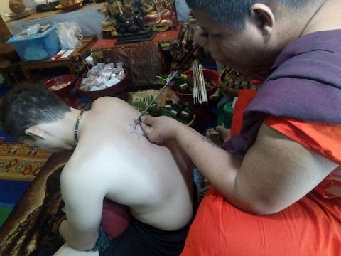 How to get a Bamboo Needle Sak Yant Tattoo in Chiang Mai Thailand