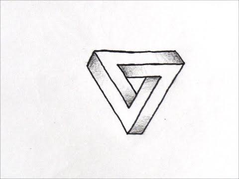 だれでも描ける線画アート 面白いだまし絵の描き方三角形編 How To