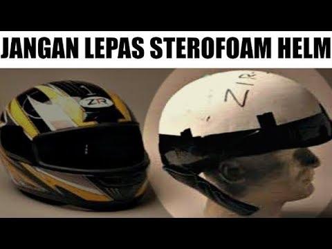 Perlukah Melepas Sterofoam Helm Sebelum Pengecatan?