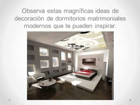 Decoraci n de dormitorio matrimonial moderno youtube - Colores para dormitorios matrimoniales ...