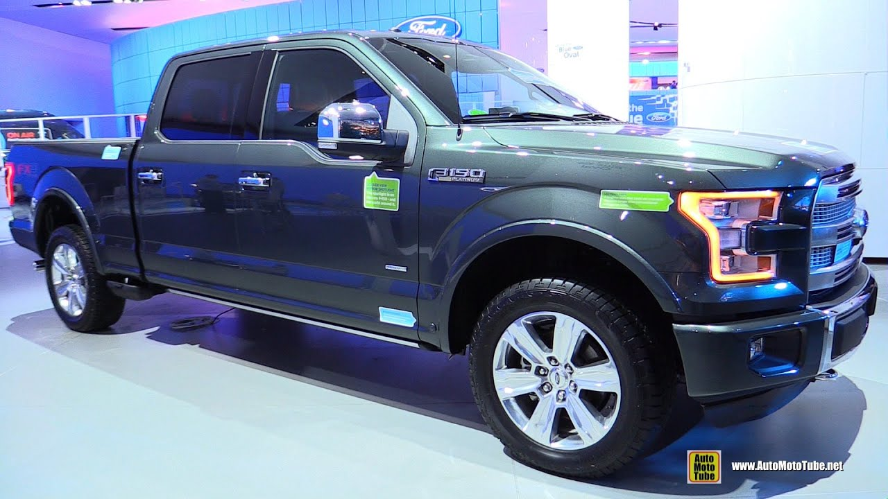 2015 ford f150 platinum exterior and interior walkaround 2015 detroit auto show youtube. Black Bedroom Furniture Sets. Home Design Ideas