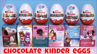 Kinder Chocolate Surprise Eggs Snoopy Care Bears Doc McStuffins Toys Opening Kids Fun Play