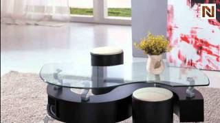 "Contemporary ""s"" Shape Coffee Table Vgevc200-1"