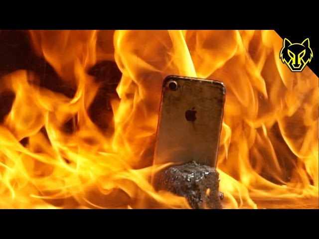 Cooking an iPhone 7 with a Flamethrower