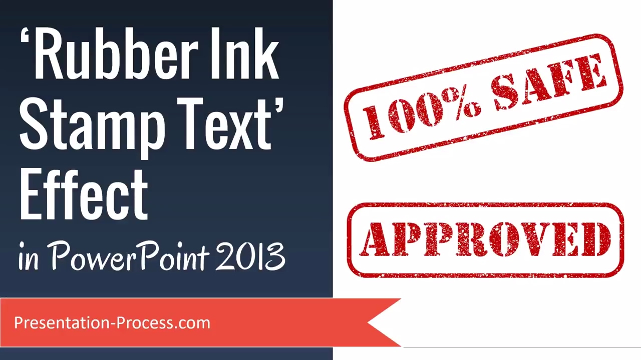 Rubber Ink Stamp Text Effect In PowerPoint 2013