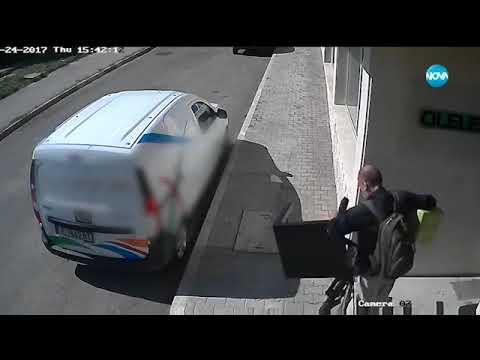 ДРЪЖТЕ КРАДЕЦА: Мъж с колело задига стол и маса - Здравей, България (13.09.2017г.)