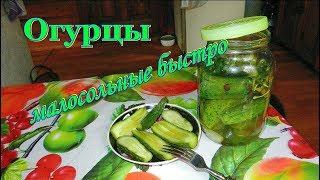 Огурцы малосольные, хрустящие - быстро, просто, очень вкусно. Видео рецепты от Борисовны.