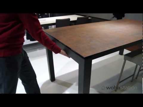 tisch ausziehbar eiche kopfkulissenauszug doovi. Black Bedroom Furniture Sets. Home Design Ideas