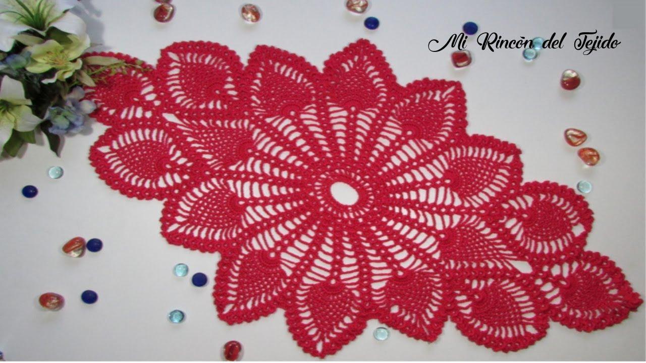 Como tejer centro de mesa crochet paso a paso 2 de 2 - Centro de mesa a crochet ovalado ...