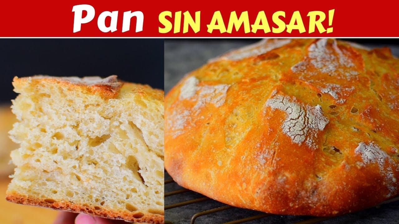 DELICIOSO PAN CASERO SIN AMASAR! con 4 INGREDIENTES que seguro tienes EN CASA! Dulce Hogar Recetas