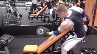 preacher biceps dumbbell curl 88 40 kg x 7 good form easy