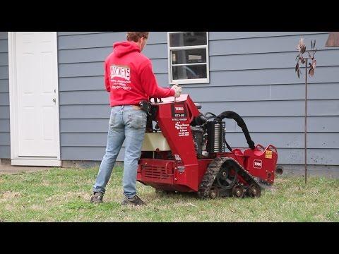 Toro STX 26 Grinding Stumps : Removing a Sidewalk The EASY Way