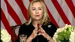 Secretary Clinton Comments on Women's Participation in the Global Economy