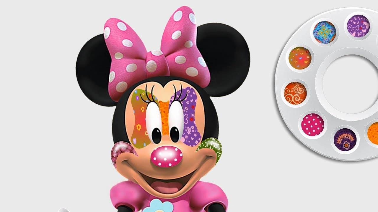 Drawing Disney Minnie Mouse Face Painting Coloring Pages For Girls