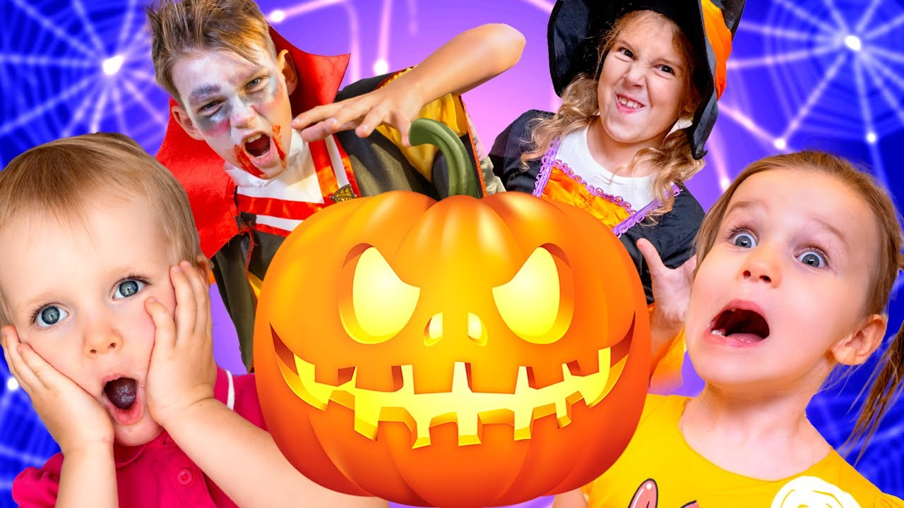 Five Kids Halloween for Kids + more Children's Songs and Videos