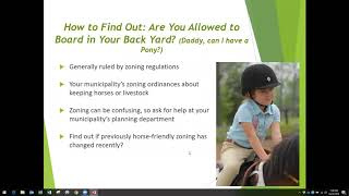 Considering Land Issues Related to Small Property Horse Keeping