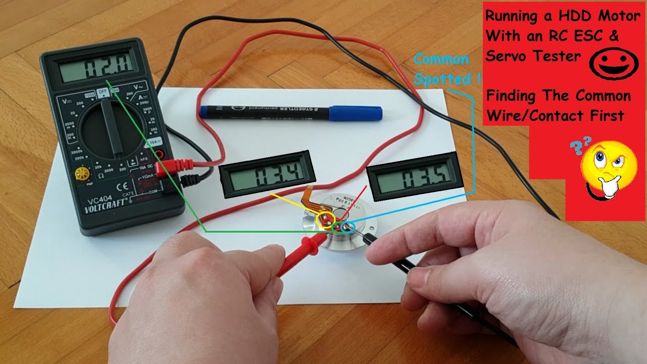 How 2 Run/Power a HDD Motor - Prerequisite - Finding The Common (Part Hard Drive Sander Wiring Diagram on