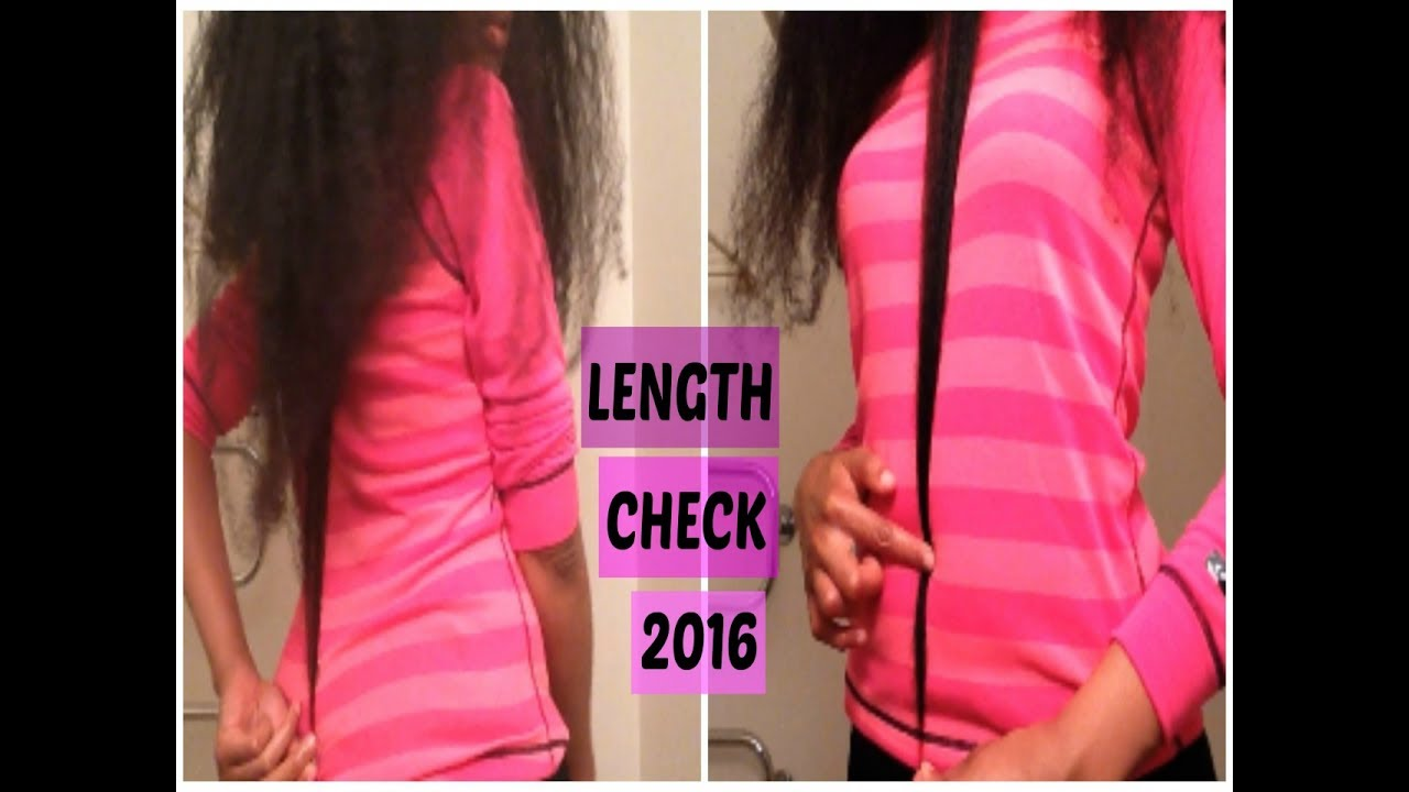Natural Hair Length Check 2016 (Published in 2017) | Tailbone Length | UnivHair Soleil English