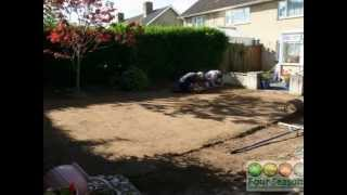 Replacing a bumpy and uneven lawn by Four Seasons Landscaping Oxford