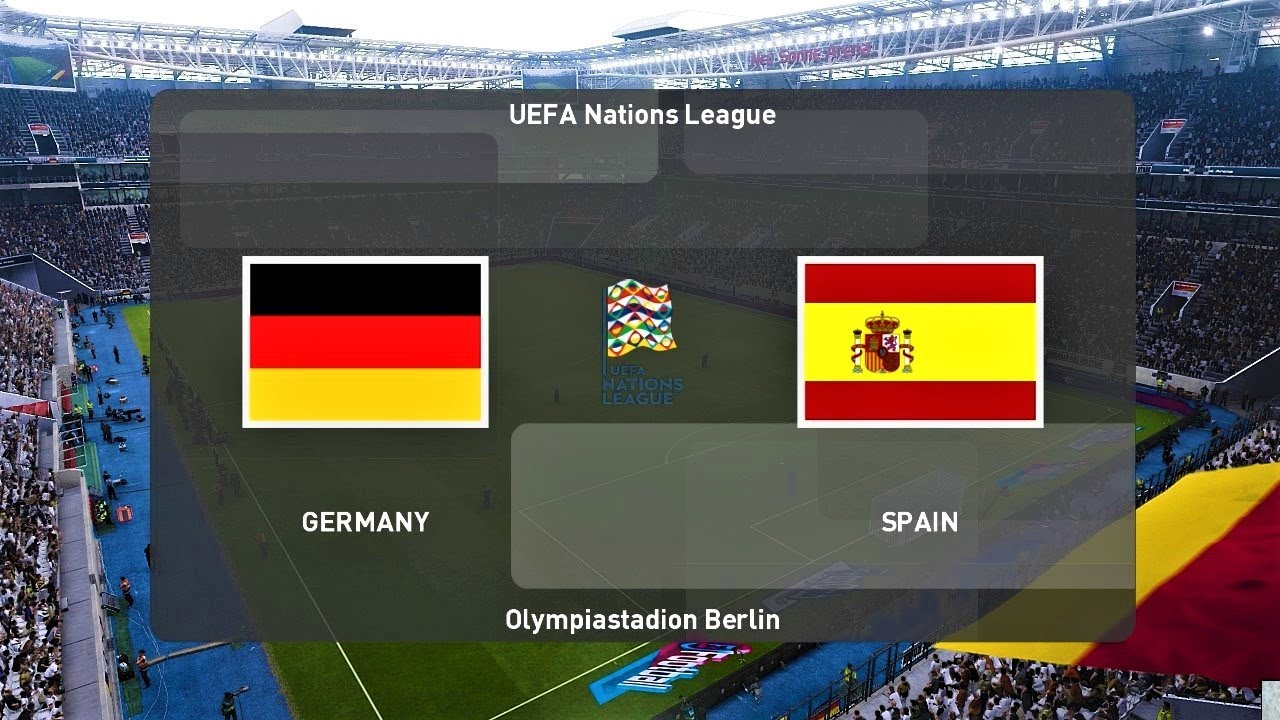 Pes 2020 Germany Vs Spain Uefa Nations League Gameplay Pc Youtube