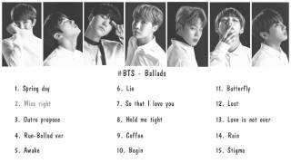 [Playlist] BTS Ballad Songs (to 2017) Pt.1