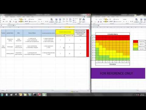 Fmea Template And Example Excel Video 119 Youtube