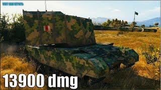 РЕКОРД по УРОНУ WOT 🌟 13900 dmg 🌟 FV4005 Stage II World of Tanks