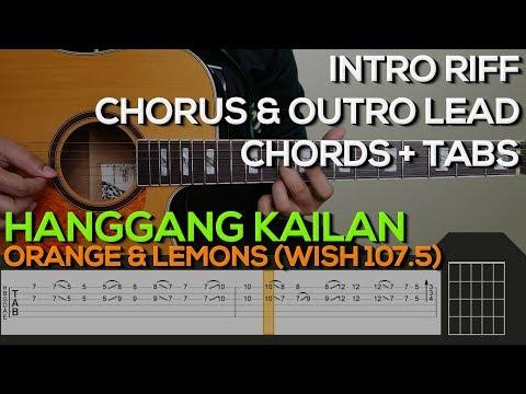 Orange & Lemons - Hanggang Kailan Guitar Tutorial [INTRO, OUTRO, CHORDS AND STRUMMING + TABS]