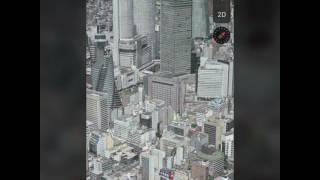全国の都市の都会に見える角度一覧