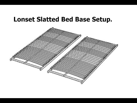 ikea lonset slatted bed base assembly