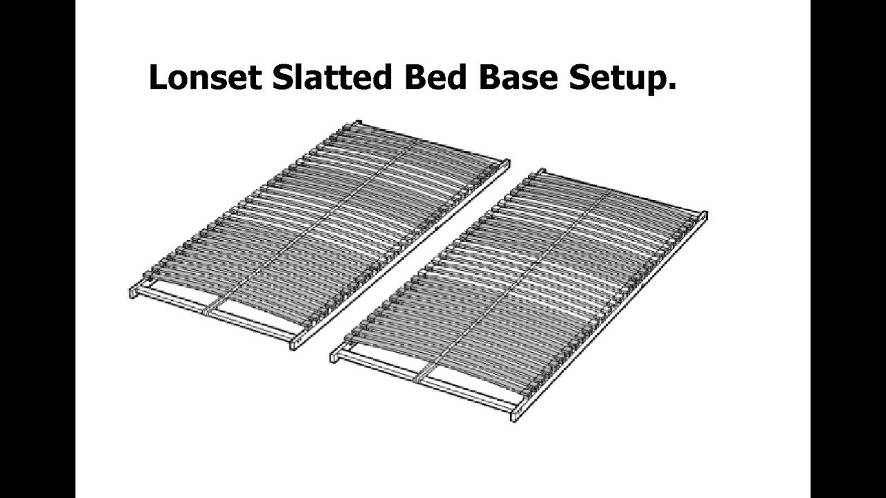 Lit Bas Ikea Ikea Lonset Slatted Bed Base Assembly Ikea Notsponsored
