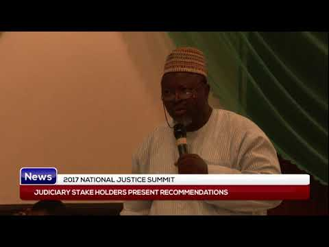2017 NATIONAL JUSTICE SUMMIT: Judiciary stakeholders present recommendations