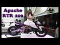 Nueva TVS Apache 200 Prueba de manejo en español